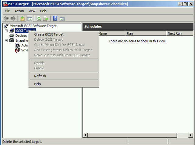 How to create shared disk using iSCSI Software Target