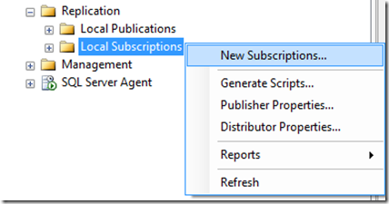 How to create transactional replication in SQL Server