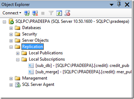 How to create merge replication in SQL Server